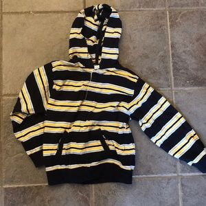 Striped hoodie pullover